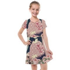 Rose Floral Doll Kids  Cross Web Dress