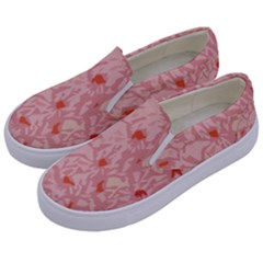 Pink Crochet Kids  Canvas Slip Ons by snowwhitegirl