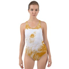 Bear Cut Out Back One Piece Swimsuit