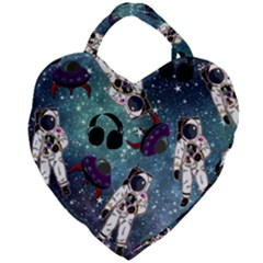Astronaut Space Galaxy Giant Heart Shaped Tote by snowwhitegirl