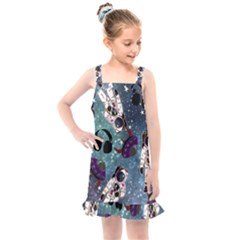 Astronaut Space Galaxy Kids  Overall Dress