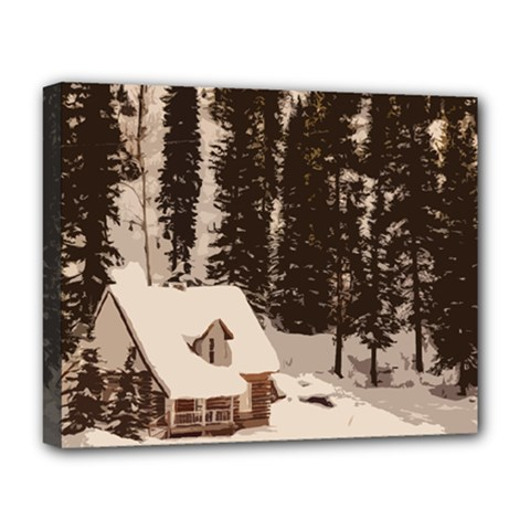 Cottage Deluxe Canvas 20  X 16  (stretched)