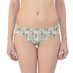 Victorian Flower Labels Hipster Bikini Bottoms by snowwhitegirl