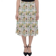 Victorian Flower Labels Classic Midi Skirt