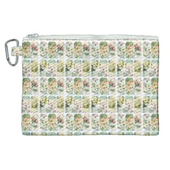 Victorian Flower Labels Canvas Cosmetic Bag (xl)