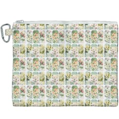 Victorian Flower Labels Canvas Cosmetic Bag (xxxl)