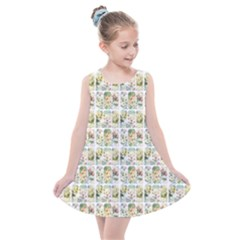 Victorian Flower Labels Kids  Summer Dress