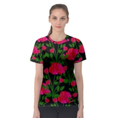 Roses At Night Women s Sport Mesh Tee