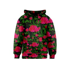 Roses At Night Kids  Pullover Hoodie