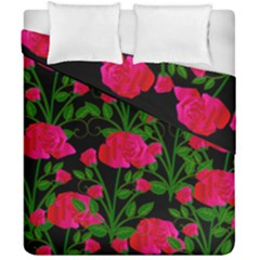 Roses At Night Duvet Cover Double Side (california King Size)