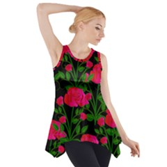 Roses At Night Side Drop Tank Tunic