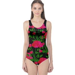 Roses At Night One Piece Swimsuit