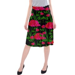 Roses At Night Midi Beach Skirt