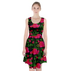 Roses At Night Racerback Midi Dress