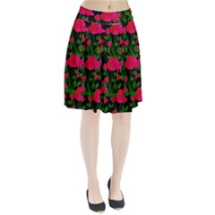 Roses At Night Pleated Skirt