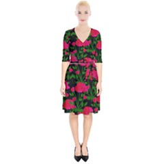 Roses At Night Wrap Up Cocktail Dress