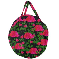 Roses At Night Giant Round Zipper Tote
