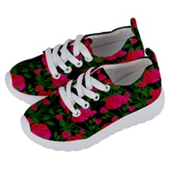 Roses At Night Kids  Lightweight Sports Shoes by snowwhitegirl