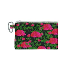 Roses At Night Canvas Cosmetic Bag (small)