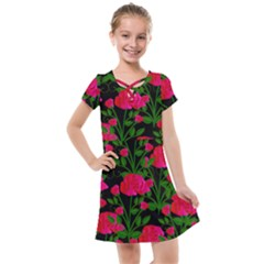 Roses At Night Kids  Cross Web Dress