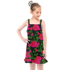 Roses At Night Kids  Overall Dress