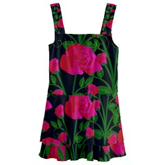 Roses At Night Kids  Layered Skirt Swimsuit