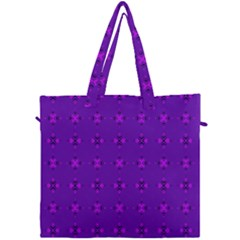 Bold Geometric Purple Circles Canvas Travel Bag by BrightVibesDesign