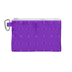 Bold Geometric Purple Circles Canvas Cosmetic Bag (medium) by BrightVibesDesign