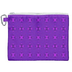 Bold Geometric Purple Circles Canvas Cosmetic Bag (xxl) by BrightVibesDesign