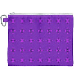 Bold Geometric Purple Circles Canvas Cosmetic Bag (xxxl) by BrightVibesDesign