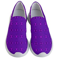 Bold Geometric Purple Circles Women s Lightweight Slip Ons by BrightVibesDesign