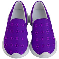 Bold Geometric Purple Circles Kid s Lightweight Slip Ons