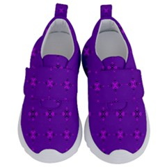 Bold Geometric Purple Circles Velcro Strap Shoes by BrightVibesDesign