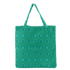 Modern Bold Geometric Green Circles Sm Grocery Tote Bag by BrightVibesDesign