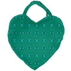 Modern Bold Geometric Green Circles Sm Giant Heart Shaped Tote by BrightVibesDesign