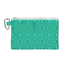 Modern Bold Geometric Green Circles Sm Canvas Cosmetic Bag (medium) by BrightVibesDesign