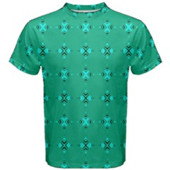 Modern Bold Geometric Green Circles Sm Men s Cotton Tee