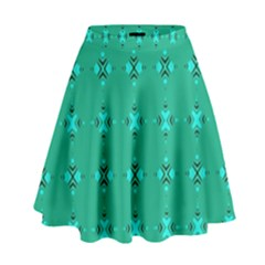 Modern Bold Geometric Green Circles Sm High Waist Skirt