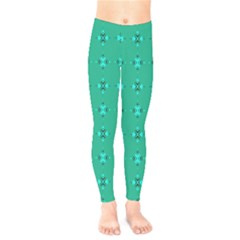 Modern Bold Geometric Green Circles Sm Kids  Legging by BrightVibesDesign