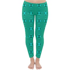 Modern Bold Geometric Green Circles Sm Classic Winter Leggings