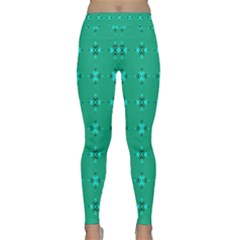 Modern Bold Geometric Green Circles Sm Classic Yoga Leggings