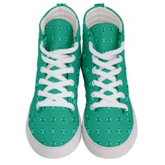 Modern Bold Geometric Green Circles Sm Men s Hi Top Skate Sneakers