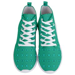 Modern Bold Geometric Green Circles Sm Men s Lightweight High Top Sneakers by BrightVibesDesign