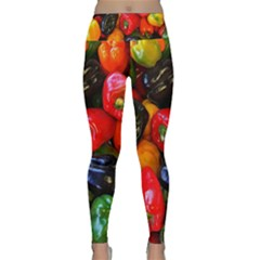 Colorful Bell Peppers Lightweight Velour Classic Yoga Leggings