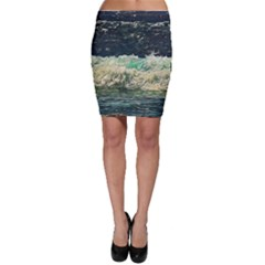 Ocean Wave Close To Shore Bodycon Skirt by bloomingvinedesign