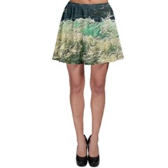 Ocean Wave Close To Shore Skater Skirt by bloomingvinedesign