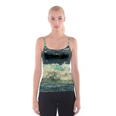 Ocean Wave Close To Shore Spaghetti Strap Top by bloomingvinedesign