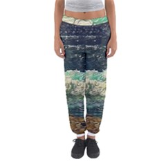 Ocean Wave Close To Shore Women s Jogger Sweatpants by bloomingvinedesign