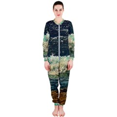 Ocean Wave Close To Shore Onepiece Jumpsuit (ladies)  by bloomingvinedesign