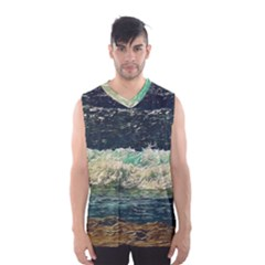 Ocean Wave Close To Shore Men s Basketball Tank Top by bloomingvinedesign